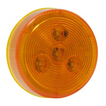"2.5"" Round Amber LED Clearance and Marker Truck Body Trailer RV Light - utilitytruckparts"