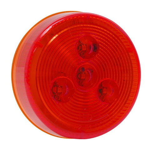 "2.5"" Round Red LED Clearance and Marker Truck Body Trailer RV Light - utilitytruckparts"
