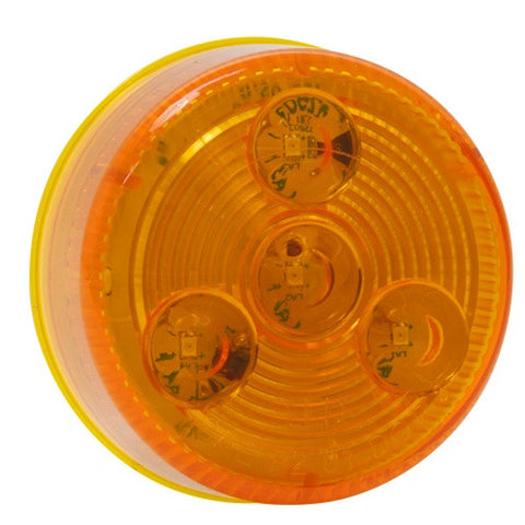 2 inch Round Amber LED Clearance Marker Truck Trailer RV Light - utilitytruckparts