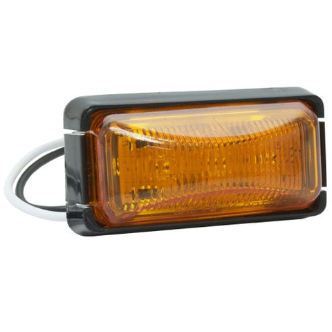 "1"" by 2"" Led Amber Side Marker & Clearance Light Comes with Bracket and 2 Plug Pigtail - utilitytruckparts"