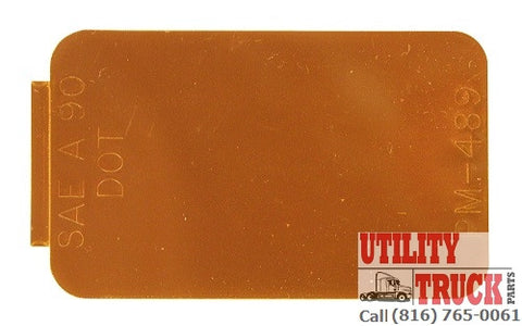 Peterson PM 489 Rectangular Amber Spitfires Reflector - utilitytruckparts
