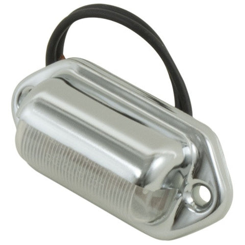 Chrome LED License Light - utilitytruckparts