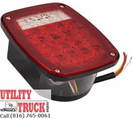 Brake Turn & Back Up License Plate LED Light Universal Combination C599SWTM - utilitytruckparts