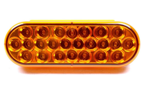 "6"" Inch Oval or Oblong LED Amber Strobe Light 1 - utilitytruckparts"