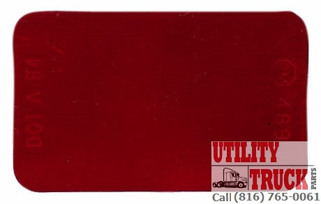 Peterson PM 489 Rectangular Red Spitfires Reflector - utilitytruckparts