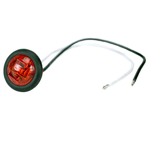 "3/4"" Inch Mini Red LED Round Clearance and Marker Light 534BRK - utilitytruckparts"