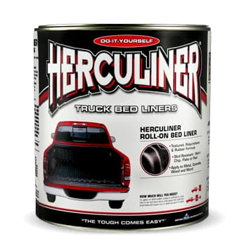 1 Gallon Herculiner Roll-On Black Truck Bed Liner HCL0B3 - utilitytruckparts