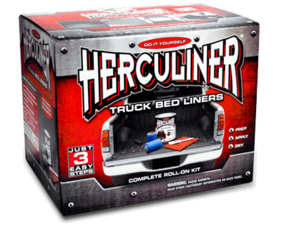 1 Gallon Container Herculiner Roll-On Black Truck Bed Liner Kit HCL0B8
