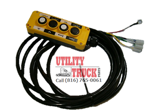 Yellow 4 Button Pendant 10ft of Cord - utilitytruckparts