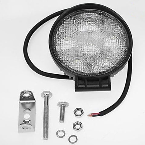 18W LED Work Flood Light Round Tractor Trailer Load Light - utilitytruckparts