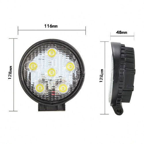 Led Lights For Tractor Trailers : W led work flood light round tractor trailer load