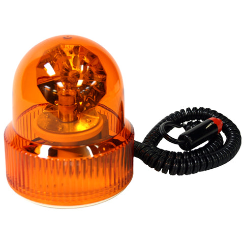 REVOLVING BEACON SIGNAL LIGHT MAGNETIC BASE AMBER C45AW - utilitytruckparts