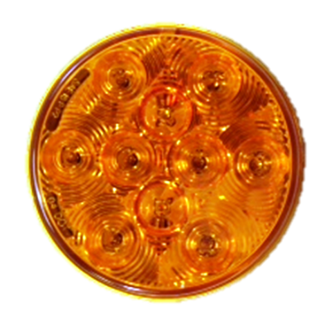 "4"" Inch Amber Round LED Park Turn Signal Light - utilitytruckparts"