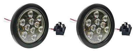 "4"" Round LED Back Up Reverse Light Kit for Truck Bodies & Trailers Inclues 2 LED Backup Lights 2 Gommets and 2 PigtailBlazer 542BC - utilitytruckparts"