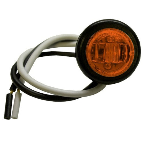 "3/4"" Amber led mini Truck Body Trailer RV Light Blazer 534BAK - utilitytruckparts"