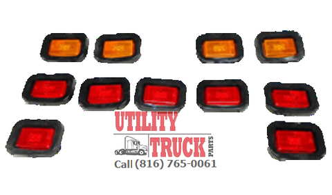 Knapheide Truck Body 4 Amber and 7 Red LED Light Kit - utilitytruckparts