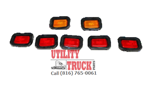 Knapheide Truck Body 2 Amber and 5 Red LED Light Kit - utilitytruckparts