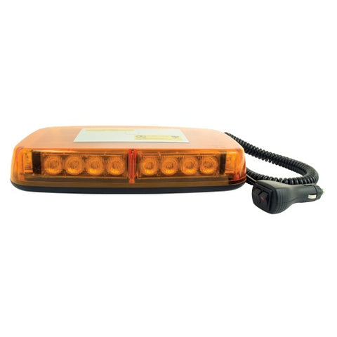 Amber Mini Emergency LED Flashing Warning Light Bar Hideaway - utilitytruckparts