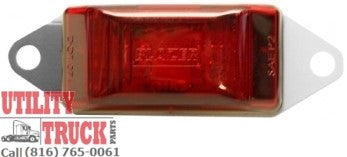"3-3/16"" Led Red Side Marker & Clearance Light with Bracket CW1586R - utilitytruckparts"