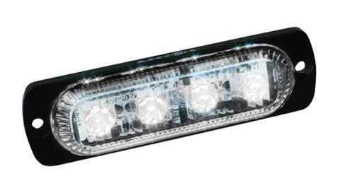 White Slim LED Low Profile Strobe - utilitytruckparts