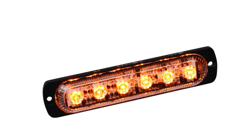 Amber Slim LED Low Profile Strobe Warning Tow, Trash Truck and Plow Light - utilitytruckparts