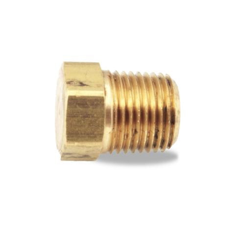 "Pipe Fitting, Brass 1/4"" Hex Head Plug Velvac 017053 - utilitytruckparts"
