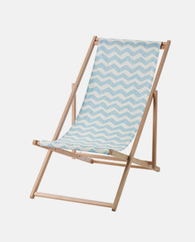 Beach chair, foldable light blue