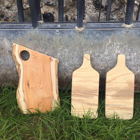 Yew and London plane serving boards
