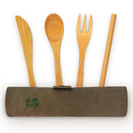 Bamboo Travel Cutlery Set.