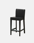 Bar stool with backrest, brown-black