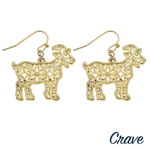 GOAT FILIGREE EARRING