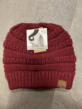 C.C. CRISS CROSS PONYTAIL BEANIES
