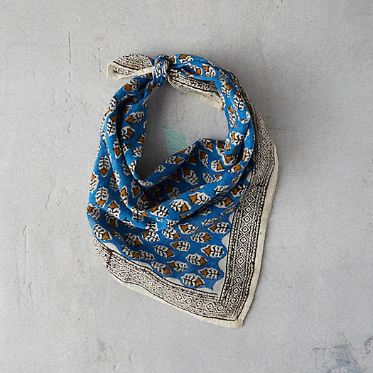 BLUE + GOLD BANDANA