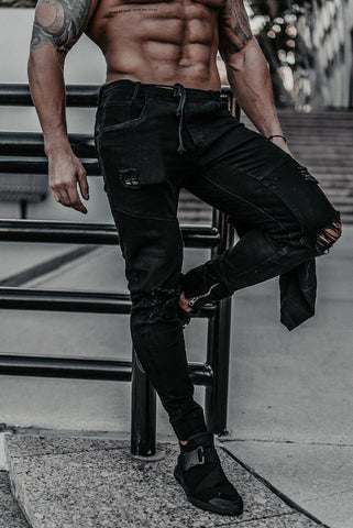 Size Up Tri-Stretch Charcoal Denim Joggers 2