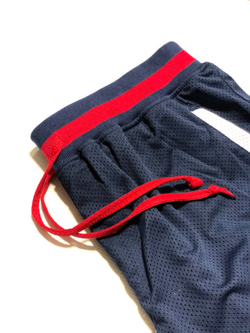 Elastic Waistband with Red Mesh Drawstring