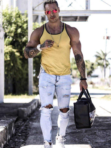 Sizeup Ripped Jeans
