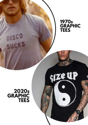 1970s Graphic T-shirts Vs 2020s Graphic T-shirts