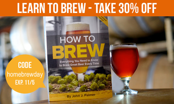Celebrate Learn to Homebrew Day with 30% Off How to Brew