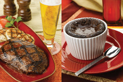 Stout-Glazed Steak and Flourless Chocolate Cake