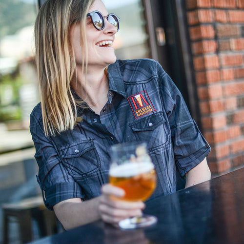 Brewers Association Women's Plaid Work Shirt