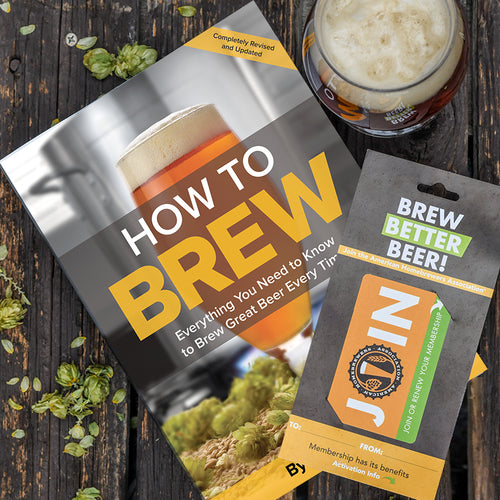 The Ultimate Brewer's Bundle: How To Brew by John Palmer and an American Homebrewers Association membership.