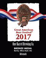 Great American Beer Fest Award Plaque