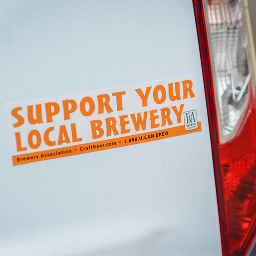Support Your Local Brewery Bumper Sticker