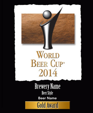 World Beer Cup Award Plaque
