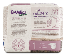 bambo nature baby diapers size 1 back