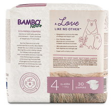 bambo nature baby diapers size 4 back