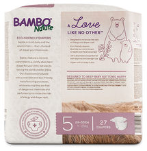 bambo nature baby diapers size 5 back