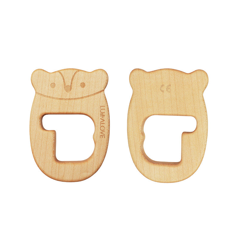 Natural Maple Wood Teether MRB