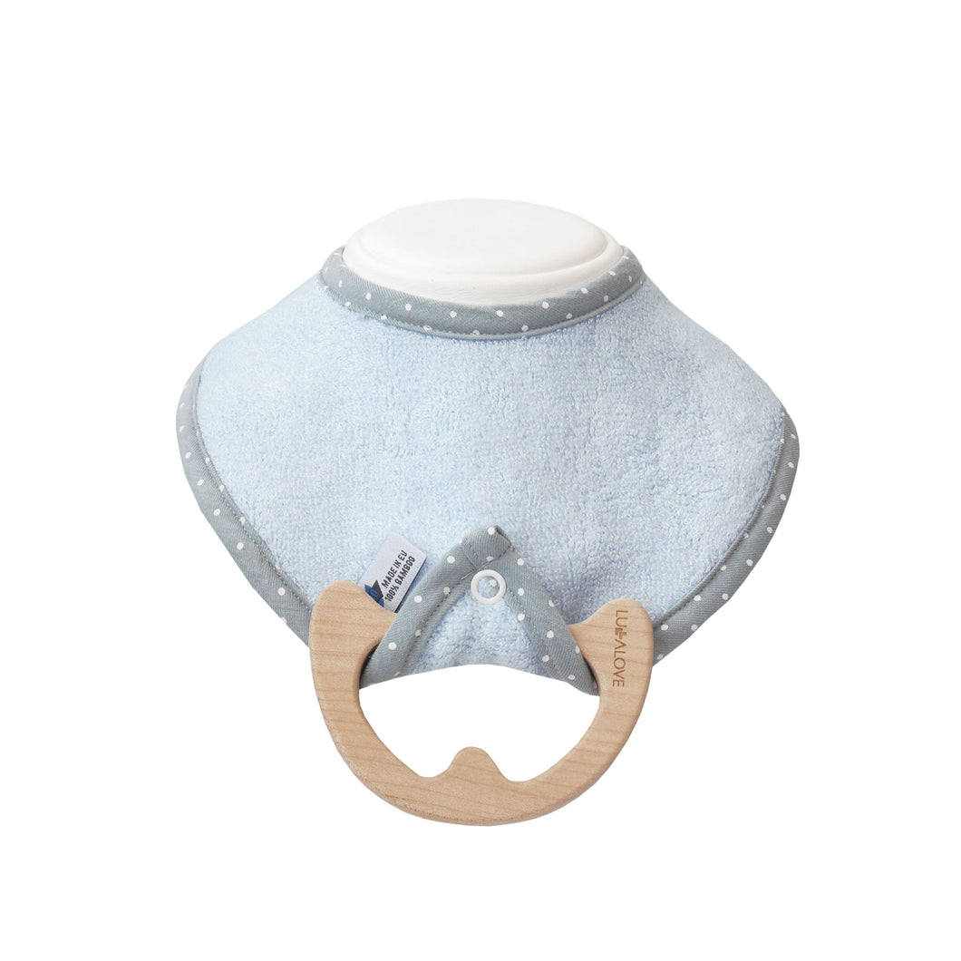 supeRRO baby bamboo bib with detachable maple teether