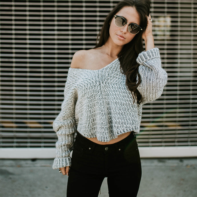 Women's Cold Shoulder Sweater